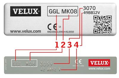 Come conoscere modello e misura della finestra velux for Misure velux